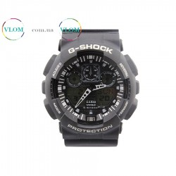Чоловічий годинник Casio G-Shock Ga 100 black white edition