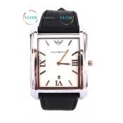 Чоловічий класичний прямокутний годинник Armani - Армані