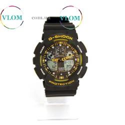 Чоловічий годинник Casio G Shock GA 100 Yellow