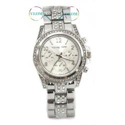 Жіночий сріблястий годинник Michael Kors стрази