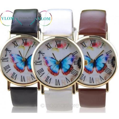 Жіночий годинник з метеликом